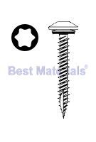 #10 x 1-1/2 Low Profile Woodgrip Screw, Zinc, Seal Washer (250)