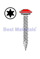 #10 x 2 Low Profile Woodgrip Screw, Seal Washer, PAINTED (250)