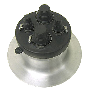 4-Pipe EPDM Flashing Boot with 14 in. Aluminum Base - UNIVERSAL COMMERCIAL 4-PIPE FLASHING. SPUN 14 INCH DIAMETER ALUMINUM BASE, 8 INCH ID, WITH EPDM RUBBER CAP, 4-FEEDTHROUGHS. FITS PIPE OPTIONS OF 1/4, 3/8, 1/2, 3/4, 1, 1-1/2 or 2 INCH. PRICE/EACH.