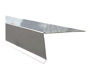 2 in. X 4 in. X 1/4 Rise X 10 Ft 26 Ga Galv. Low Rise Metal. - LOW RISE EDGE METAL. 2 in. FACE X 4 in. TOP WITH 1/4 in. RISE X 10 FEET. 26 GAUGE GALVANIZED. PRICE/PIECE. NOTE: Small orders are cut to two 5-foot pieces for reduced shipping cost.