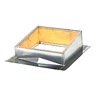 36 X 36 inch Custom Hatch Curb For Metal Roof - 36 x 36 INCH INSIDE SIZE ROOF HATCH CURB FOR STANDING SEAM SLOPED METAL ROOF, GALVANIZED 18 GAUGE STEEL, FLUSH CURB MOUNT. CUSTOM BUILT CURB TO MATCH YOUR ROOF. PRICE/EACH. (Truck Shipment Only. Special Order Item: 1-2 week leadtime.)