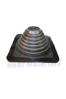 #3 Black EPDM Square-Base Flashing, ICC / 35-Year