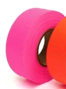 PINK GLO FLAGGING / SURVEYORS TAPE, 1-3/16 in. X 150 ft. (case of 144)