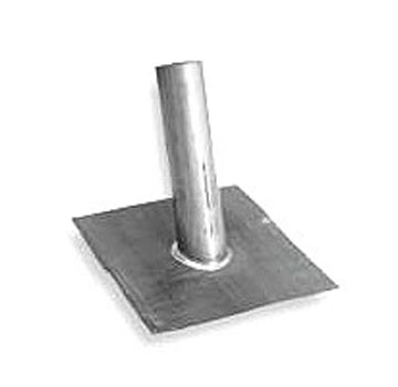 2-1/4 ID 2.5 Lb. Lead Pipe Flashing, Fits 1-1/2 Pipe, SPECIFY PITCH - 2-1/4 ID in. x 12 in. Riser, 2.5 Lb. Lead Pipe Flashing, 16 X 16 in. Base for Tile roofs. Fits 1-1/2 Inch Pipes. CUSTOM ANGLE PITCH. Price/Each. (specify PITCH before adding to cart; custom item not returnable; shipping leadtime 3-4 business days)