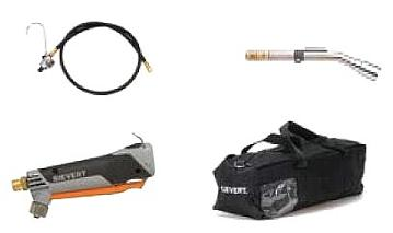 Sievert RKD-4 Hot Air Torch Kit, For Modified Bitumen - Sievert RKD-4 Hot-Air Propane Powered Torch Kit. For Modified Bitumen Membrane Repair. Uses Disposable Propane Cylinders. Price/Kit.