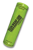 Tech-Wrap 300, Synthetic Underlayment, 10-SQ Roll (4x250 ft.) - TECH-WRAP 300, POLYPROPYLENE ROOFING UNDERLAYMENT. 4x250 FT. ROLL (10 SQ). CLASS-A FIRE RATED. PRICE/ ROLL. (shipping leadtime 1 week; 42 rolls/pallet, special freight available)