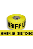 SHERIFF LINE DO NOT CROSS Barricade Tape, 1000 ft., 3-mil, 8-rolls