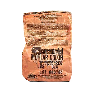 Solomon Mortar Color,  #37H DEEP BROWN, 2 Lb Bags (case of 12) - Concentrated Mortar Color, Solomon #37H Deep Brown, 2-Lb Bags. 12 Bags/Case. Price/Case. (54 case/pallet; order full pallets for added discounts)