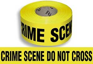 CRIME SCENE DO NOT CROSS, Barricade Tape, 3-mil, 1000 ft., 8 rolls - YELLOW -CRIME SCENE DO NOT CROSS- BARRICADE TAPE 3 INCH x 1000 FEET, 3-MIL. 8 ROLLS/CASE. PRICE/CASE.