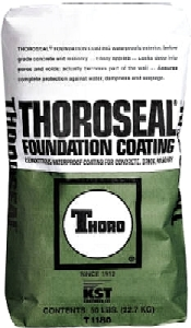 MasterSeal 582 (Thoroseal FC), Cementitious Waterproofing, 50 Lb - MasterSeal 582 Foundation Coating (formerly Thoroseal FC). Waterproof Portland-cement based waterproofing coating for exterior below-grade concrete & masonry. 50 Lb/bag. Gray Color. Price/Bag. (60 bags/pallet)