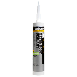 Metal Roof Sealant, High Performance, Specify COLOR  10.1 Oz (Case/12 tubes) - Metal Roof Sealant, High Performance. By Titebond. Miami-Dade County Approved. 50% Total Movement. Available in 50 colors. 10.1 oz tubes. 12 tubes/Case. Price/Case. (special order terms apply; see all ordering notes in detail view)