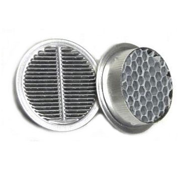 4 inch Round Fire Stopping Vents (1) - Vulcan 4 inch Round Fire Stopping Eave Vent. 4 SqIn Net Free Vent Area. Price/Each. (25/case. Order full cases for added discounts)