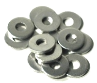 Washer, 1/8 ID x 3/8 OD Round Aluminum Rivet Back-Up Washers (500) - Aluminum Rivet Backup Washer, 1/8 size ID x 3/8 OD x .062 Thick, Round Aluminumt, Type AS-8. Fits 1/8 inch Rivets. 500/Bag. Price/Bag. (10,000/case, order full cases for added discounts; leadtime 1-3 days)