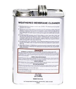 Weathered Membrane Cleaner (1G, truck shipment only) - WEATHERED MEMBRANE CLEANER FOR EPDM AND TPO. 1 GALLON/CAN. PRICE/CAN. (Very Flammable; Hazmat Shipping; UPS Ground or Truck Shipment Only; Email for help)
