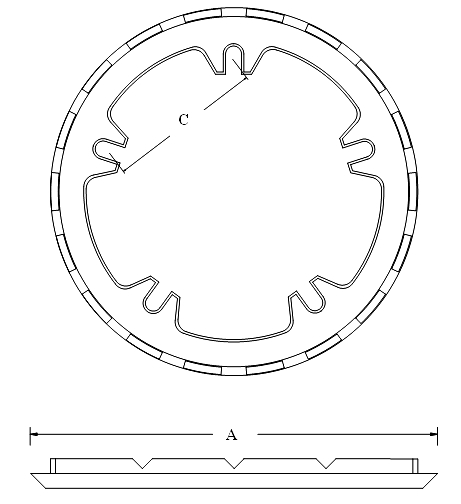 Zurn Z101 Roof Drain Clamping Ring