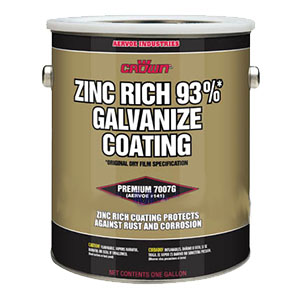 Zinc Rich 93 % Galvanize Coating / Primer # 7007Q (1-QT) - Zinc Rich 93% Galvanize Coating / Super-Primer, # 7007Q. 1-part epoxy 93% zinc filled (after cure), quick-drying, brush-on primer for rust prevention in all climates and submerged. 1-Quart Can. Price/Can. (Flammable: Ground shipment only)